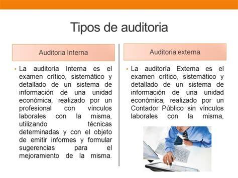 tipos de auditoria cuadro comparativo entre auditoria interna y externa