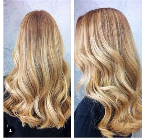 pictures of golden blonde hair highlights on blonde hair golden blonde balayage highlights