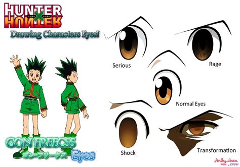 hunter x hunter gon s eyes by andy chanwanttodraw on