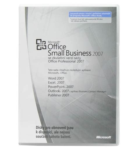 Microsoft Office Small Business by Microsoft Office Small Business 2007 Cz Mlk Oem