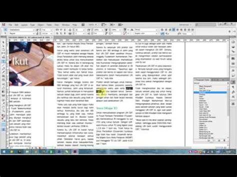 tutorial indesign indonesia tutorial indesign masalah pemenggalan kata raja cetak