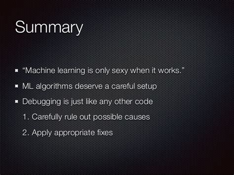 pattern recognition and machine learning youtube making machine learning work in practice stedecon 2014