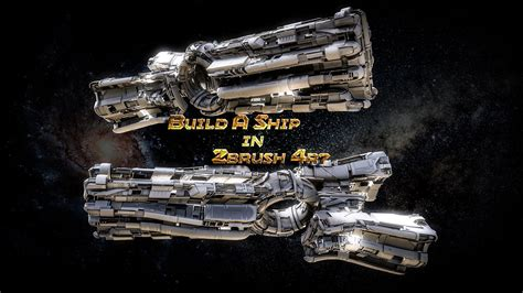 zbrush spaceship tutorial build a sci fi spaceship in no time in zbrush 4r7 with