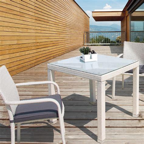tavolo rattan bianco tavolo bianco in polyrattan etnico outlet mobili da giardino