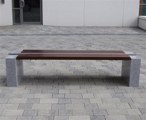 bench cut s83 cut granite 316 stainless steel and timber bench