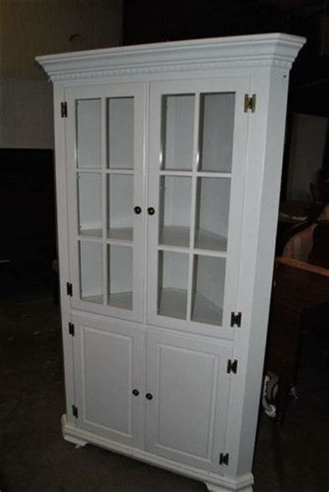 White Dining Room Display Cabinets Antique White Painted Mahogany Corner China Display