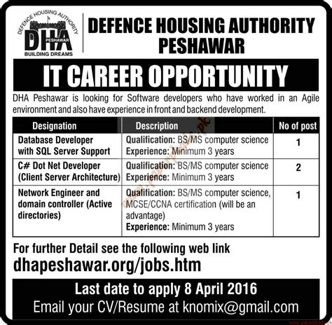 housing authority jobs defence housing authority jobs express jobs ads 29 march 2016 paperpk