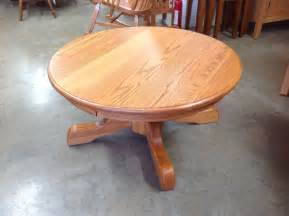 Amish Made Bedroom Furniture round pedestal coffee table norman s handcrafted