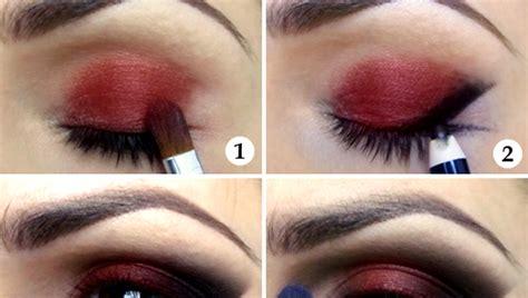 eyeshadow tutorial red alluring red black eyeshadow tutorial b g fashion