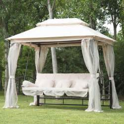 Outdoor Gazebo Swing Bed by Outdoor Patio 3 Person Gazebo Swing Daybed Bench Hammock