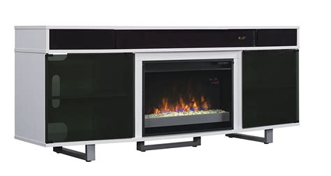 Electric Fireplace With Speakers by Tv Stand Speakers Enterprise Gloss Electric Fireplace