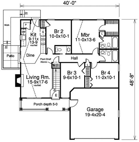 Narrow Ranch House Plans by Narrow Lot House Plan Studio Design Gallery Best