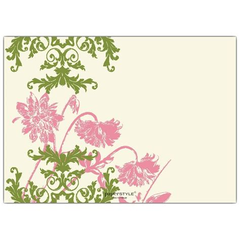 floral lace pink and green birthday invitations paperstyle