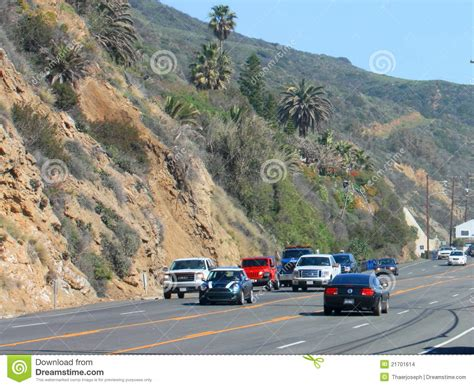 Pch Malibu Road Conditions - traffic on pch editorial stock image image 21701614