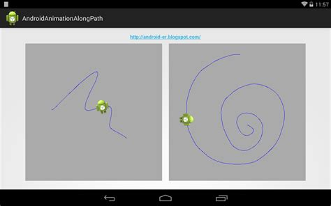 android canvas android er animation follow touch path