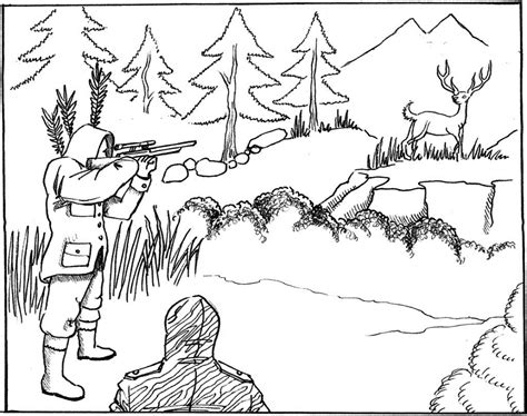 Deer Season Coloring Pages | free printable hunting coloring pages for kids