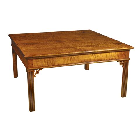 d r dimes 38 quot square chippendale coffee table
