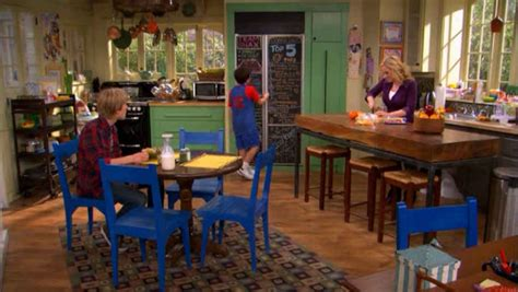 good luck charlie house good luck charlie kitchen blue chairs hooked on houses