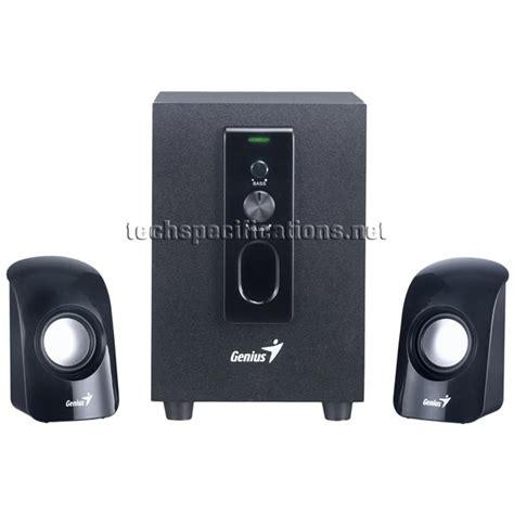 Speaker Komputer Genius genius sw 2 1 330 pc speakers tech specs