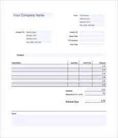 Editable Invoice Template Pdf by 7 Estimate Invoice Templates Free Word Pdf Excel