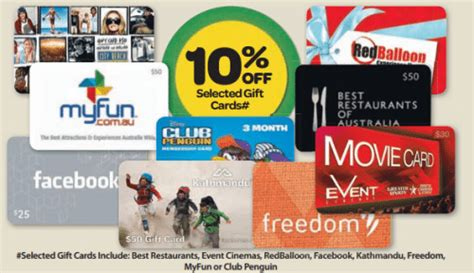 Google Play Gift Card Discount Australia - expired 10 off various gift cards at woolworths until april 15 gift cards on sale