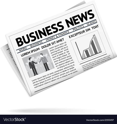 Newspaper Folded Stock Vector More Images Of Article 158578801 Istock Folded Newspaper Presenting Business News Vector Image