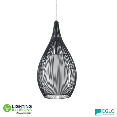 eglo pendant light white eglo razoni droplet metal cage pendant light