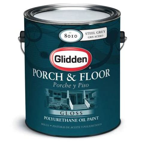 Home Depot Floor Paint by Glidden Porch And Floor 1 Gal Steel Gray Gloss Interior