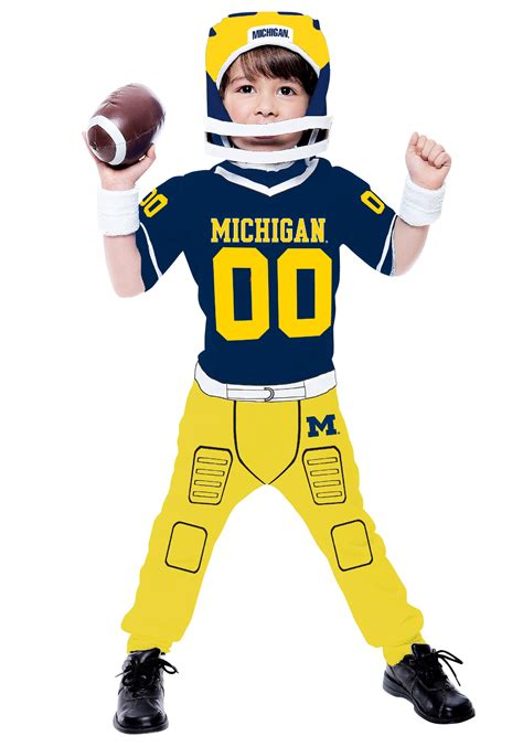 football costume toddler of michigan football costume
