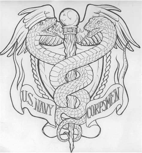 navy corpsman tattoo us navy corps commish request by biomechlizardchick on