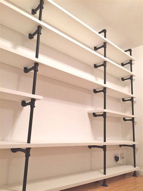 andra white painted scaffolding bookcase by grain