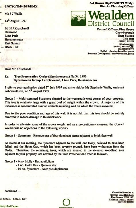 Politician Briefprobe request letter cutting of trees 28 images tree
