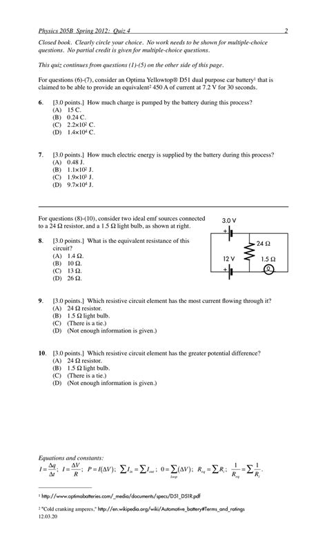 tutorial questions on capacitance p dog s blog boring but important physics quiz archive
