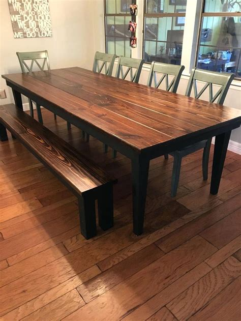 rustic dining room table with bench dining table rustic dining tables canada nz round table