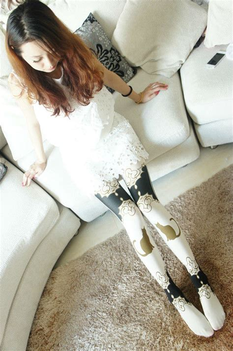 cat pattern tights brave store
