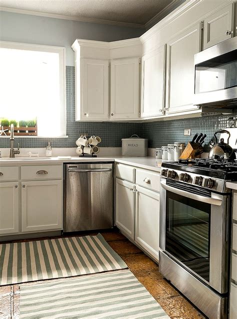 paint grade kitchen cabinets builder grade kitchen makeover with white paint more
