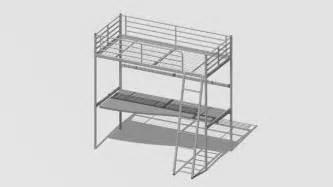 ikea sv 228 rta loft bed frame with desk 3d warehouse