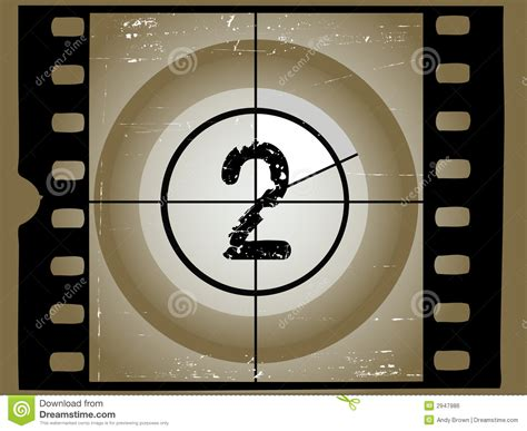 A Shoey Countdown Number 2 by Scratched Countdown 2 Royalty Free Stock Image