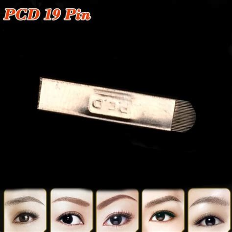 tebori tattoo cost 100pcs pcd 19 pin u blade needle for microblading pen for