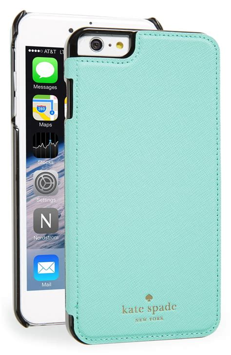 kate spade new york iphone 6 plus 6s plus leather folio nordstrom