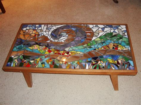painted glass coffee mosaic coffee table design images photos pictures