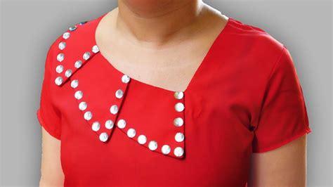 kurti pattern with collar overlapped collar neck design kurti collar neck designs