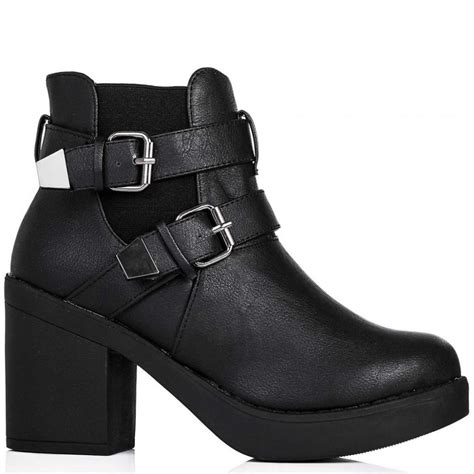heeled biker boots buy freed heeled biker chelsea ankle boots black leather