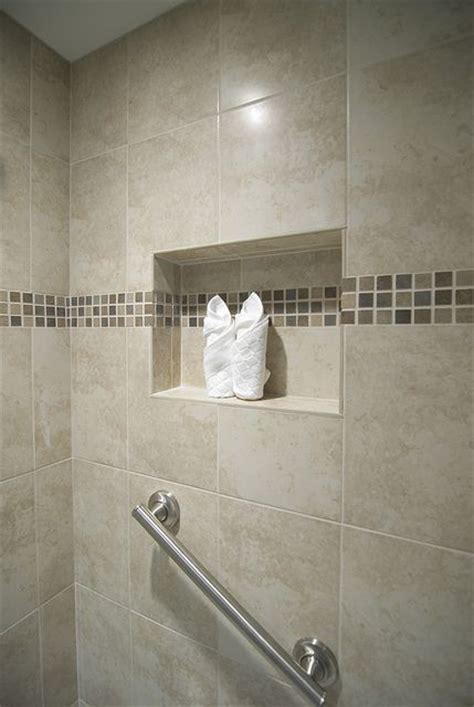 Bathroom Tile Nooks Inset Bathroom Remodel The Ribbon Grey And Nooks