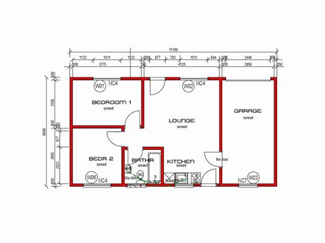 Two Room And Garage Plan by 2 Bedroom House Plans Garage South Africa Glif Org