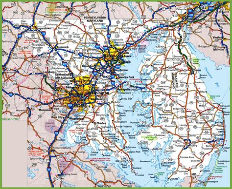 maryland delaware map map of maryland and delaware world map 07