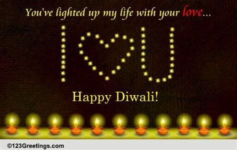 A Romantic Diwali Wish! Free Diyas eCards, Greeting Cards