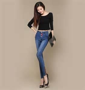 Arrival women s high waist large size pencil font b skinny b font jpg