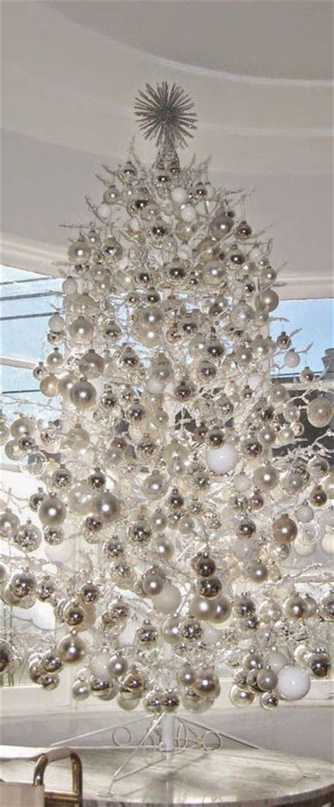 17 best ideas about silver christmas tree on pinterest