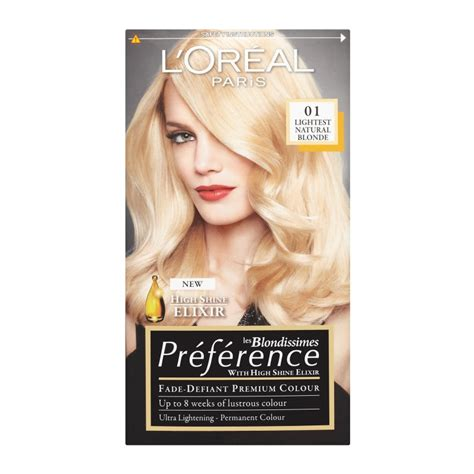 loreal preference hair color range loreal recital preference hair colour 03 lightest ash